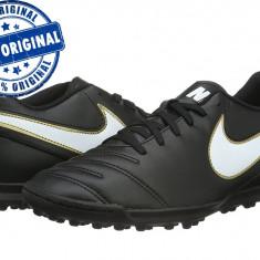 Adidasi barbat Nike Tiempo Rio 3 - adidasi originali - adidasi fotbal - Ghete fotbal Nike, Marime: 41, Culoare: Negru, Barbati, Teren sintetic: 1