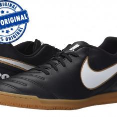 Adidasi barbat Nike Tiempo Rio 3 - adidasi originali - adidasi fotbal - Ghete fotbal Nike, Marime: 42, Culoare: Negru, Barbati, Sala: 1