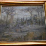 Peisaj industrial semnat monogram AC, Ciucurencu, ulei pe panza, 60x60 cm, Natura statica, Realism
