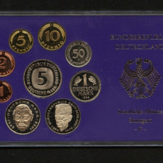 X045 GERMANIA 1988 SET MONETARIE STUTTGART