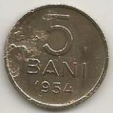 ROMANIA RPR 5 BANI 1954 [2] livrare in cartonas - Moneda Romania, Alama