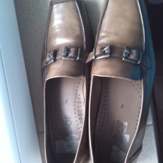Pantofi dama office piele maro bej marimea 40-40.5 - Pantof dama Gabor