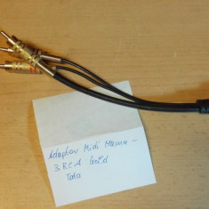 Adaptor Midi Mama 6p - 3 RCA Tata Gold