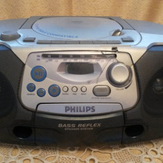 CD-Radio Casette Recorder - Philips AZ 1220 BASS REFLEX - Casetofon Philips, 0-40 W