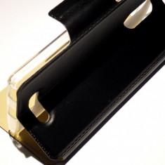 Husa Protectie Toc Flip Cover Allview X3 soul Style - Husa Telefon Allview, Negru, Piele Ecologica, Cu clapeta