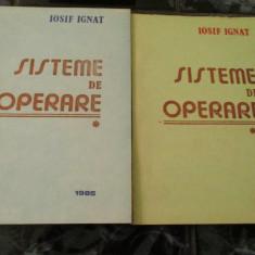 Sisteme de operare - Iosif Ignat -2 vol, Alta editura