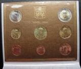 2011 Vatican Euro Set oficial BENEDICT XVI FDC, Europa, Cupru-Nichel
