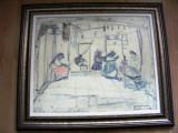 Tablou Magdalena Radulescu, ulei pe panza, 70x60 cm, Abstract