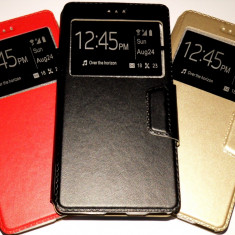 Husa Protectie Toc Flip Cover Tip carte Allview X3 Soul Style, Alt model telefon Allview, Negru, Piele Ecologica