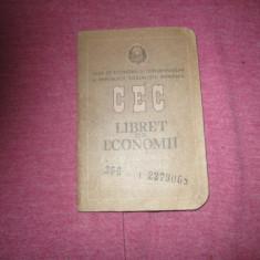 Carnet cec emis 1989 c3 - Pasaport/Document, Romania de la 1950