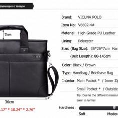 POLO VICUNA - geanta laptop, business lux din piele  PU