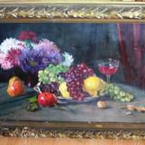 Tablou G Manea, ulei pe carton, 70x50 cm, Natura statica, Realism