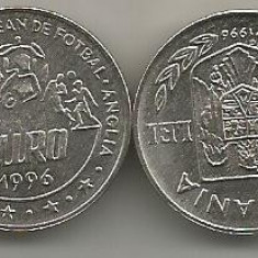 ROMANIA 10 LEI 1996 Campionatul European de Fotbal Anglia 1996 UNC in capsula - Moneda Romania, Fier