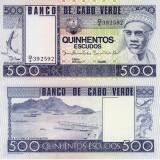 CAPUL VERDE 500 escudos 1977 UNC!!! - bancnota africa