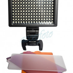Lampa foto video HD-160, 160 leduri, 6xAA - Lampa Camera Video