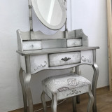 Set Masa toaleta cosmetica machiaj patinata si vopsita manual