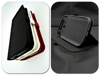 Husa FlipCover Stand Magnet Allview P9 Energy NEGRU