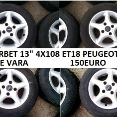 JANTE BORBET 13 4X108 PEUGEOT CITROEN - Janta aliaj, 5, 5, Numar prezoane: 4