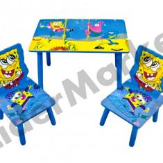 Masuta si scaune pentru copii - imprimeu Sponge - Masuta/scaun copii