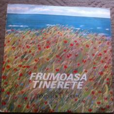 Temistocle Popa melodii ce Frumoasa tinerete disc vinyl lp Muzica Pop electrecord usoara, VINIL
