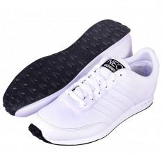 Adidasi 100% originali barbati ADIDAS RACER, din piele, noi, in cutie - Adidasi barbati, Marime: 44, 44 2/3, Culoare: Alb, Piele naturala