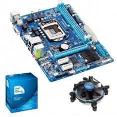 KIT PLACA DE BAZA GIGABYTE H61M-DS2, Skt1155+PENTIUM G840+COOLER+Shield I/O, Pentru INTEL, DDR 3, Contine procesor, MicroATX