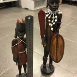 Doua statuete din lemn, arta africana