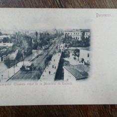 Bucuresti, Bulevardul Elisabeta vazut de la Ministerul de Razboi, carte postala clasica - Harta Europei