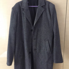 Palton material textil barbatesc - Palton barbati, Marime: XL, Culoare: Gri, XL
