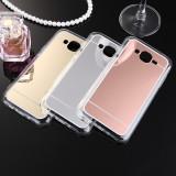Husa Samsung Galaxy J3 2016 TPU Mirror Gri - Husa Telefon Samsung, Argintiu, Gel TPU, Fara snur, Carcasa