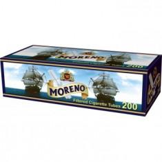 Tuburi  tigari   MORENO FILTRU ALB 1 X 200 BUC pentru injectat tutun