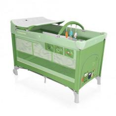 Baby Design Dream 04 green 2016 - Patut pliabil cu 2 nivele - Patut pliant bebelusi