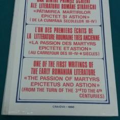 UNA DINTRE PRIMELE SCRIERI ALE LITERATURII ROMÂNE STRĂVECHI /NESTOR VORNICESCU - Vietile sfintilor
