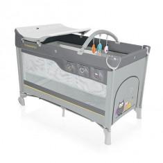 Baby Design Dream 07 grey 2016 - Patut pliabil cu 2 nivele - Patut pliant bebelusi