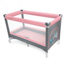 Baby Design Simple 08 pink 2016 - Patut pliabil - Patut pliant bebelusi