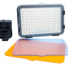 Lampa foto video XT-160II 160 leduri, 1400 lumeni, 3 filtre