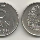 ROMANIA RSR 5 BANI 1966 [1] XF, livrare in cartonas - Moneda Romania, Fier