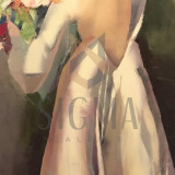 TABLOU, GEORGETA GRABOVSCHI, MIREASA, U/P, 120 X 60 CM - Pictor roman