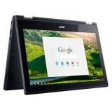 Laptop 2 in 1 Acer Chromebook C738T-C17E cu procesor Intel® Celeron® N3050 1.60GHz, 11.6, Touchscreen, 2GB, 32GB eMMC, Intel® HD Graphics, Black