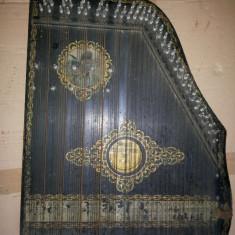 Tzitora, titora, instrument vechi, muzical, german, cu corzi,