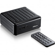 Mini Sistem PC ASRock Beebox N3000, Procesor Intel® Celeron® N3000 1.04GHz Braswell, 2x DDR3 16GB max, mSATA, HDD 2.5 inch, GMA HD, no OS, Black - Sisteme desktop fara monitor