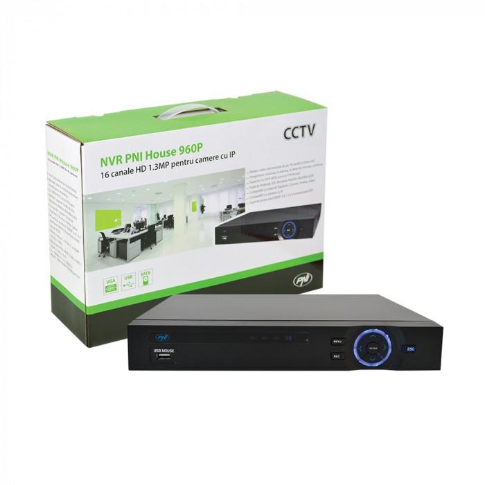 Resigilat : NVR PNI House 960P - 16 canale HD sau 8 canale Full HD 1080p 2MP