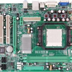 Placa de baza BIOSTAR GF7025-M2 Ver. 6.x, DDR2, SATA, Socket AM2 + Procesor AMD Athlon 64 X2 4800+, 2.40GHz + Cooler + Shield