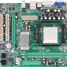 Placa de baza BIOSTAR GF7025-M2 Ver. 6.x, DDR2, SATA, Socket AM2 + Procesor AMD Athlon 64 X2 4800+, 2.40GHz + Cooler + Shield
