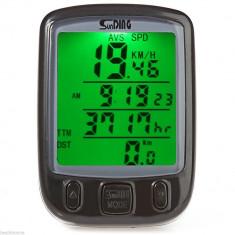 Kilometraj / Odometru - Pentru Bicicleta - Multiple Functii + Rezistent la Apa