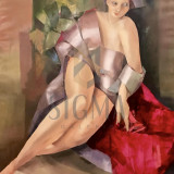 TABLOU, GEORGETA GRABOVSCHI, PARIZIANCA, U/P, 120 X 100 CM - Pictor roman
