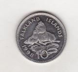 bnk mnd Falkland Islands 10 pence 1998 unc , fauna
