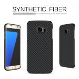 Husa Samsung Galaxy S7 Edge Synthetic Fiber by Nillkin - Husa Telefon Samsung, Negru, Plastic, Fara snur, Carcasa