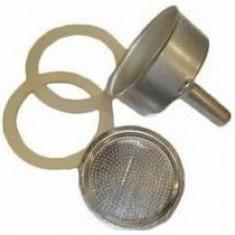 Accesorii de aluminiu pentru masină de cafea 4 bucăți (2 bucăți de cauciuc, 1 filtru superior și 1buc de pâlnie cu filtru)Perfect Home 12019