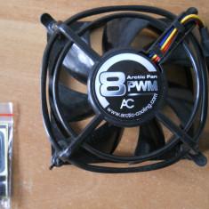 Cooler, ventilator carcasa 80x80 4 fire Arctic Cooling 8 PWM NOU. - Cooler PC Arctic Cooling, Pentru carcase